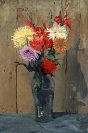 Image: Winston Churchill. Flowers in a Green Vase, ca. 1930s